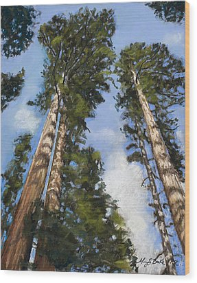 Towering Sequoias Wood Print