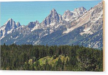 Towering Teton Range  Wood Print