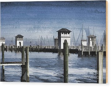 Towers And Masts Wood Print by Roberta Byram