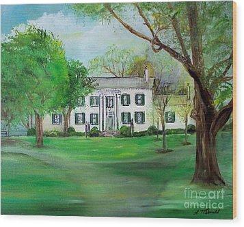 Town And Country Farm Lexington Wood Print by Lynda McDonald