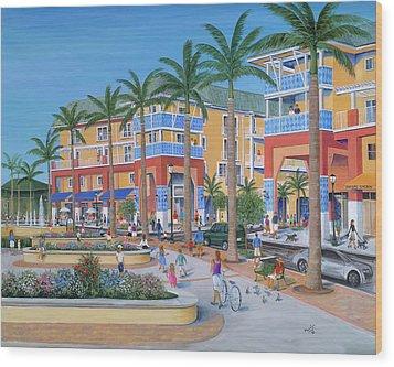 Town Center Abacoa Jupiter Wood Print by Marilyn Dunlap
