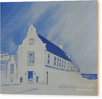 Town Hall, Rosemary Beach Wood Print