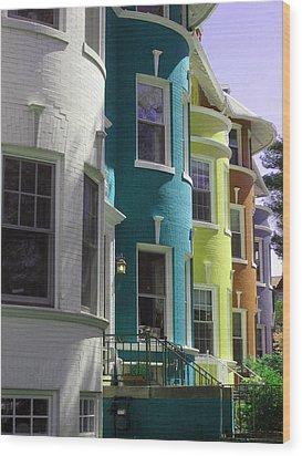 Townhouse Row 3 Wood Print by Sean Owens