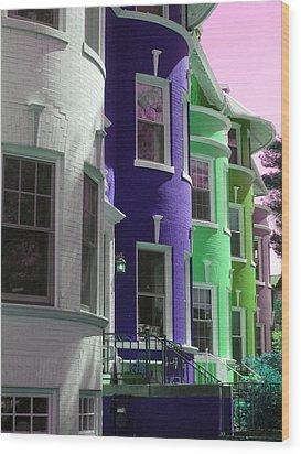 Townhouse Row 4 Wood Print by Sean Owens