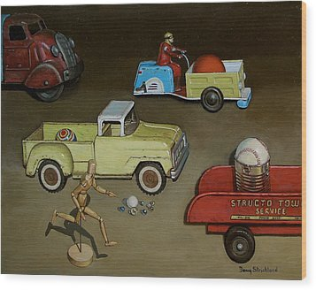 Toy Parade Wood Print by Doug Strickland