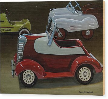 Toy Pedal Cars Wood Print by Doug Strickland