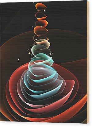 Wood Print featuring the digital art Toy Pyramid by Anastasiya Malakhova