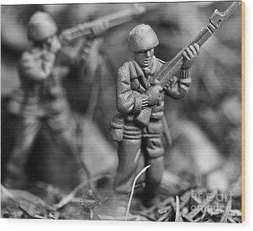 Toy Soldiers Wood Print by Randy Steele