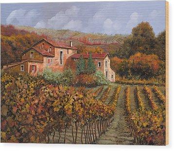tra le vigne a Montalcino Wood Print by Guido Borelli