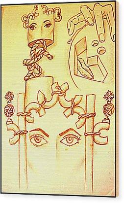 Traces Of Dreams Wood Print by Paulo Zerbato