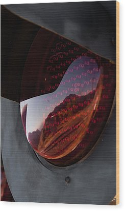Track Reflections Wood Print by Colleen Coccia