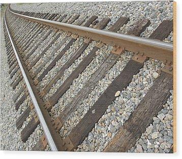 Tracks Wood Print by Kim Zwick