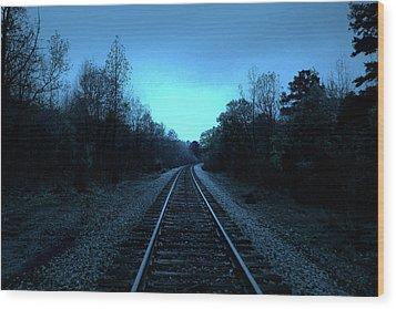 Tracks Of Dawn Wood Print by Nina Fosdick