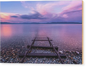 Wood Print featuring the photograph Tracks To Tahoe by Brad Scott