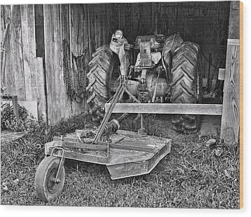 Tractor Wood Print by Denise Romano