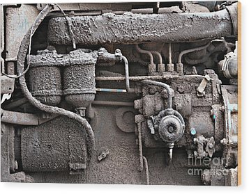 Wood Print featuring the photograph Tractor Engine II by Stephen Mitchell