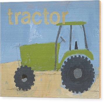 Tractor Wood Print by Laurie Breen