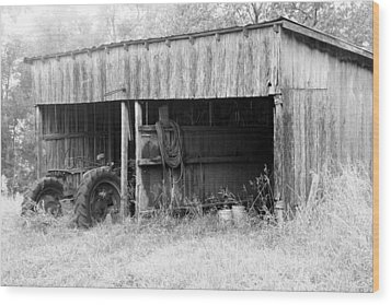 Tractor Shed Wood Print