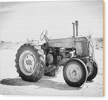 Wood Print featuring the photograph Tractor by Silvia Bruno