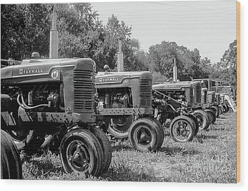 Wood Print featuring the photograph Tractors by Brian Jones
