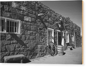 Trading Post Wood Print by Timothy Johnson