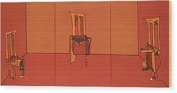 Trading Spaces Wood Print by John Gibbs