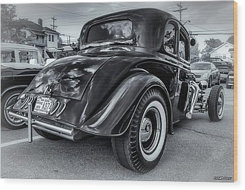 Tradional Hot Rod Wood Print by Ken Morris