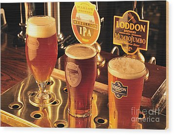 Traditional English Beers Wood Print by Andy Smy