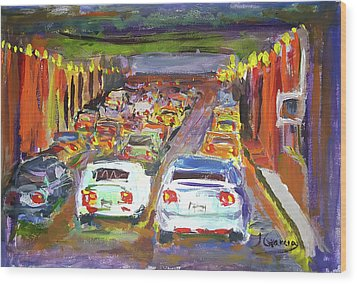 Traffic Jam Wood Print by Janet Garcia