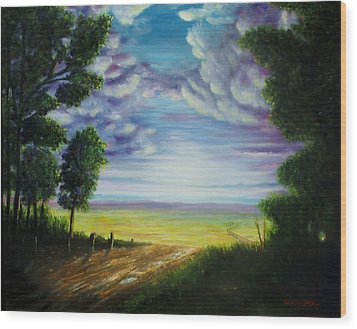Trail Away  Wood Print
