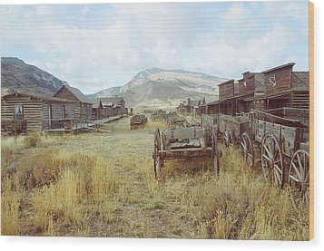 Trail Town Wyoming Wood Print by Brent Easley