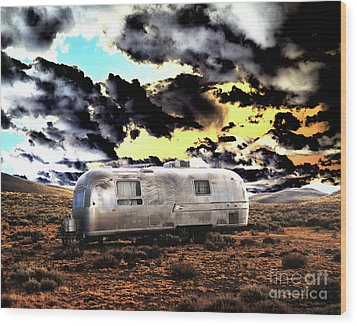 Wood Print featuring the photograph Trailer by Jim and Emily Bush