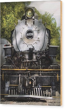 Train - Engine - 4039 American Locomotive Company  Wood Print by Mike Savad