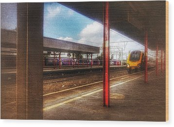 Wood Print featuring the photograph Train Coming In by Isabella F Abbie Shores FRSA