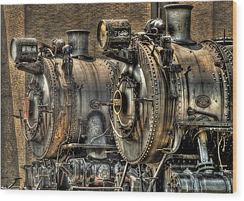 Train - Engine - Brothers Forever Wood Print by Mike Savad