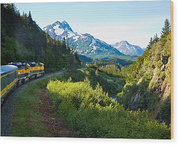 Train From The North Wood Print by Adam Pender