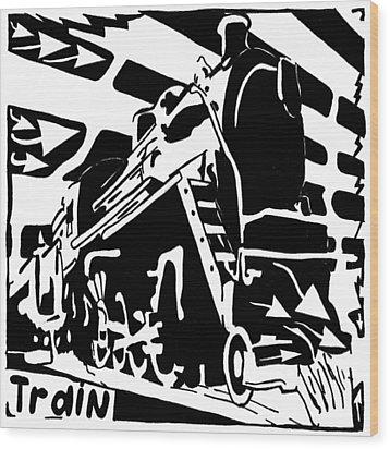 Train Maze Wood Print by Yonatan Frimer Maze Artist