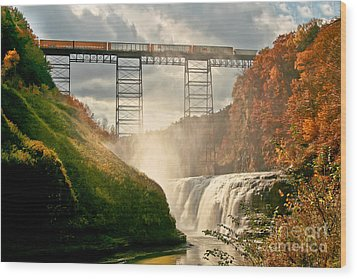 Train Over Letchworth Wood Print by Ken Marsh