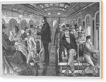 Train: Passenger Car, 1876 Wood Print by Granger
