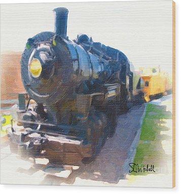 Train Wood Print
