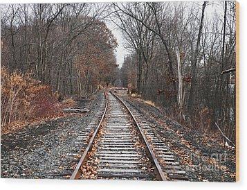 Train Tracks Wood Print by John Rizzuto