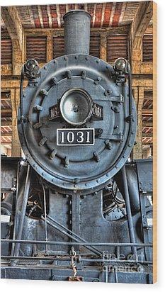 Trains - Steam Locomotive 1031 Wood Print