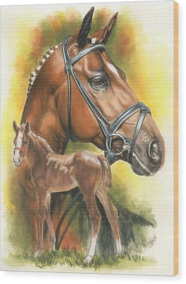 Wood Print featuring the mixed media Trakehner by Barbara Keith