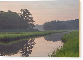 Tranquil Reflections Wood Print by Allan Levin