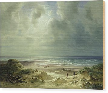 Tranquil Sea Wood Print by Carl Morgenstern