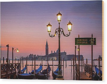 Wood Print featuring the photograph Tranquil Venice by Andrew Soundarajan