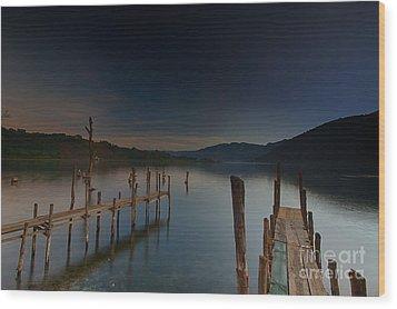 Tranquility At Atitlan Wood Print