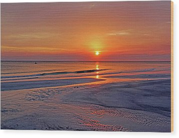 Wood Print featuring the photograph Tranquility - Florida Sunset by HH Photography of Florida