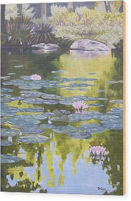 Wood Print featuring the painting Tranquility IIi Furman University by Robert Decker