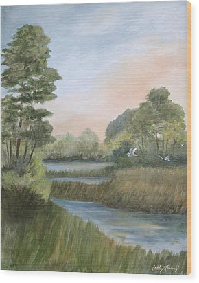 Tranquility Wood Print by Shirley Lawing
